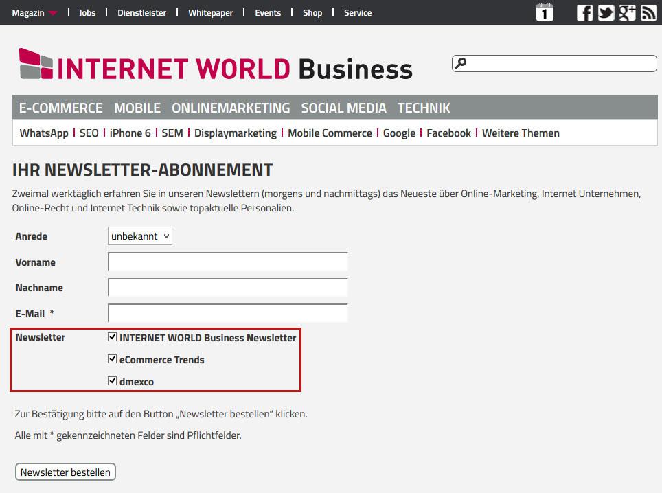 E-Mail-Adressen generieren & Newsletter-Verteiler ausbauen ...